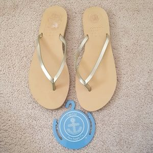 Cape Cod Shoe Supply leather thong sandals size 11